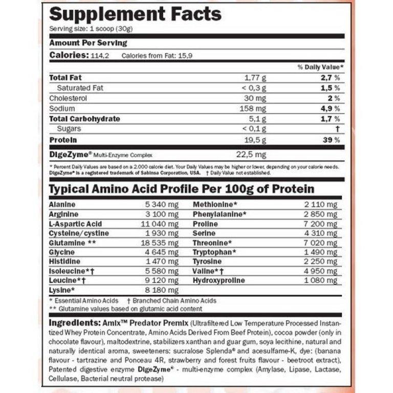 100% Predator Protein 2000 g.